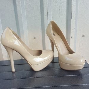 Shoes - Patent Nude Heels